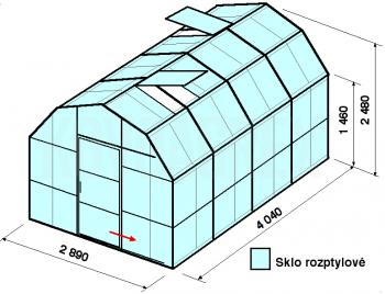 Skleník VA1-4m-zasklení D