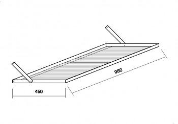 Stůl boční 450x980 mm
