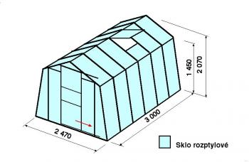 Skleník H7-3m