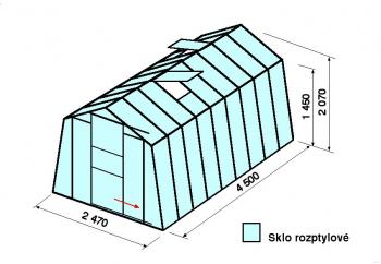 Skleník H7-4,5m