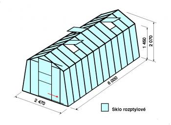 Skleník H7-6m
