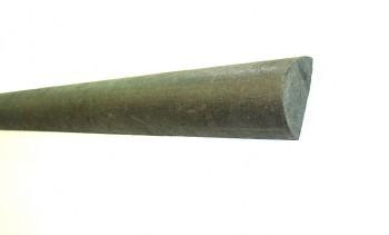 Plotovka 79x35x2000 mm, půlkruhová, hnědá