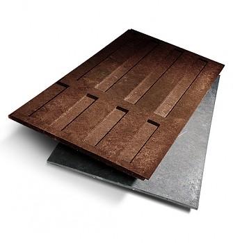Deska s dezénem 800x30x1500 mm, plotová, hnědá