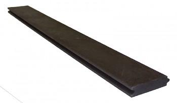 Palubka 132x32x1200 mm, s perem a drážkou, hnědá