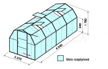 Skleník BA3-4m-zasklení D