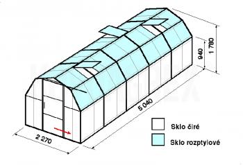 Skleník BA3-5m-zasklení C
