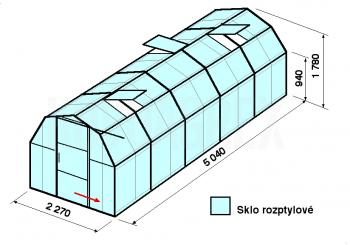 Skleník BA3-5m-zasklení D